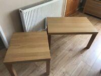 2 x ikea tables