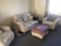 Laura Ashley Style 2 Seater Sofa and 2 chairs