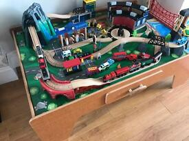 Wooden play train table with loads of extra accessories!