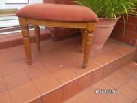 DRESSING TABLE STOOL PINE GREAT CONDITION