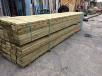 New 8 x 2 Inch Treated Timber C24 Construction Grade 4.8m Lengths