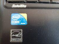 lovely fast toshiba 15.6in screen laptop, intel i3, 8gb ram, 1tb hard drive, dvd windows 10