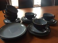 Denby set of 6 cups, saucers & plates