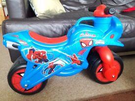 Spiderman motorbike, balance bike, ride on