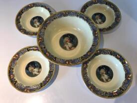 Lovely Deco NHP My Lady Fruit or Dessert Bowl with 4 Smaller Bowls