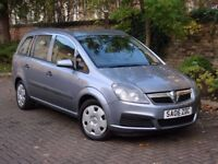EXCELLENT 7 SEATER!! 2006 VAUXHALL ZAFIRA 1.6 16V LIFE, LONG MOT, 1 FORMER KEEPER, AA WARRANTY