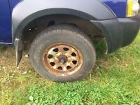 Commercial or 4x4 tyres nissan Cabstar/ or navara 205/16 inch