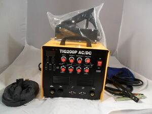 AC DC TIG WELDER  ALI S/TEEL Tig 200 P WITH PULSE UK SELLER in stock now