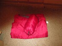 Sleeping bag red 2x used -REF- 2.484kgheavy-134AC192290