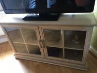 Corner TV Unit Limed Oak Great Condition £30