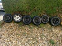 6 x 4x100 steel wheels