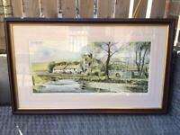 Framed Painting 'Millers Dale' by John Rudkin - Limited Edition