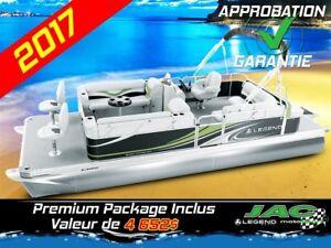 2017 Legend Boats Ponton Splash Plus Cottage EXT Mercury 15 Bate