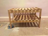 Custom Wooden ikea shoe rack/ rail or bathroom bench seat
