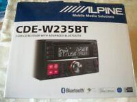 alpine cde-235bt car stereo