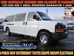 2009 Chevrolet Express 3500 ALLONGÉ 15 PASSAGÉ GROUPE ÉLECTRIQUE