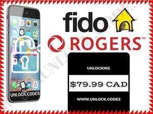 UNLOCK.CODES  --  Rogers / Fido iPhone Unlocking  --  $79.99 CAD