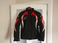 RST BROOKLYN LADIES TEXTILE MOTORCYCLE JACKET BLK /RED SIZE S £80 ono