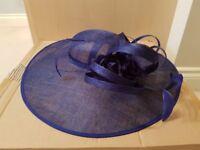 Cobalt occasion/wedding hat. Worn once
