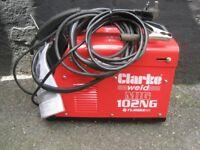 Clarke Gasless Mig Welder 102NG Turbo