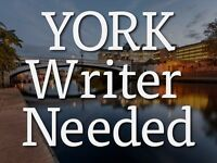 York Writer Needed - Freelance Writing Opportunity
