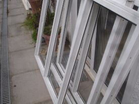 Pre Owned White UPVC Double Glazed Bay Windows in Perfect Working Order with Glass and 150mm Cill