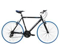 """Tiger Ghost Flat Bar STI Road Bike – 58cm (23"""") BLUE (Perfect Condition) Commuter Bicycle"""