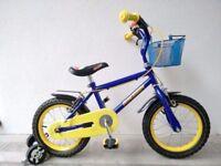 "(2658) 14"" 9"" RALEIGH OLLIE Boys Girls Bike Bicycle+STABILISERS; Age: 4-5, 98-112 cm"