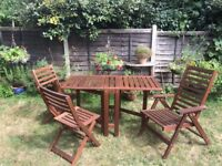 Used Ikea garden table and chairs