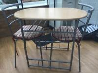 Breakfast bar and chairs