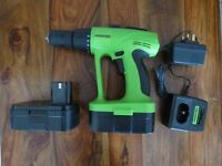 Tooltec 24v drill with charger and 2 batteries