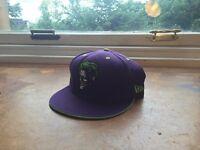 Joker Batman new era cap hat purple RARE SIZE 7 1/2