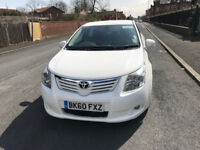 2010 Diesel Toyota Avensis t4 with 11 months wolverhampton taxi plate,reverse camera,satnav leather