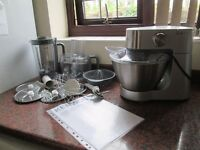 Kenwood mixer with lots of attachments, food processor, liqidiser etc