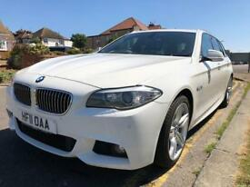 BMW 12 Months MOT 520d M Sport Touring Estate White Panoramic Sunroof Pro Sat Nav Auto Leather