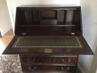 Solid mahogany writing bureau telephone desk