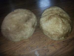 2 1940s HUDSONS BAY Co. ladies fur hats MADE IN ITALY