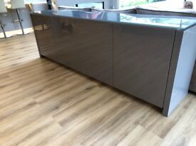 High Gloss Sideboard, Four Door Compartment. Stunning Peice.