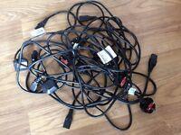 JOB LOT OF 8 X MAINS POWER CABLE KETTLE LEAD UK PLUG BLACK