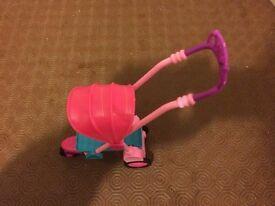 barbie pink pushchair - toy