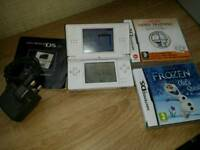Nintendo ds lite. With games