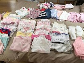 Newborn & 0-3 months baby girl clothes bundle