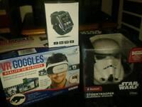 Smart Watch, 3D Goggles, Stormtrooper Speaker