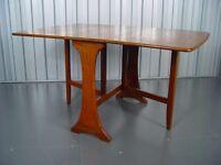 Retro Gate Leg Drop Leaf Table Vintage Furniture X