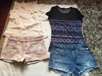 Bundle ladies shorts tops size 8 used 4 items good condition £6