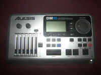 Alesis DM10 , DM10X Drum Module / High Definition Drums , Cymbals with Dynamic Articulation / USED !