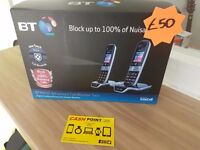 DIGITAL CORDLESS PHONE TWIN BT8600 *ANSWERING MACHINE* *BRAND NEW & BOXED* *ADVANCED CALL BLOCKER*