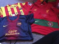 4 official football tops 10-12 years