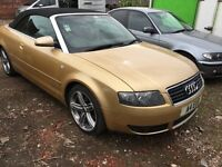 Audi A4 cabriolet 2.5 tdi 2003 111.200 miles 6 gears tiptronic new 12 months mot