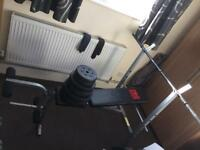 Pro Power weight bench and leg press